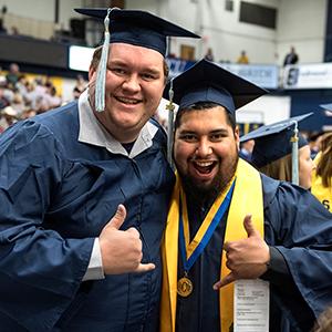 College of Education and Professional Studies graduates smiling