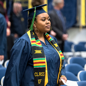 College of Liberal Arts student walking forward