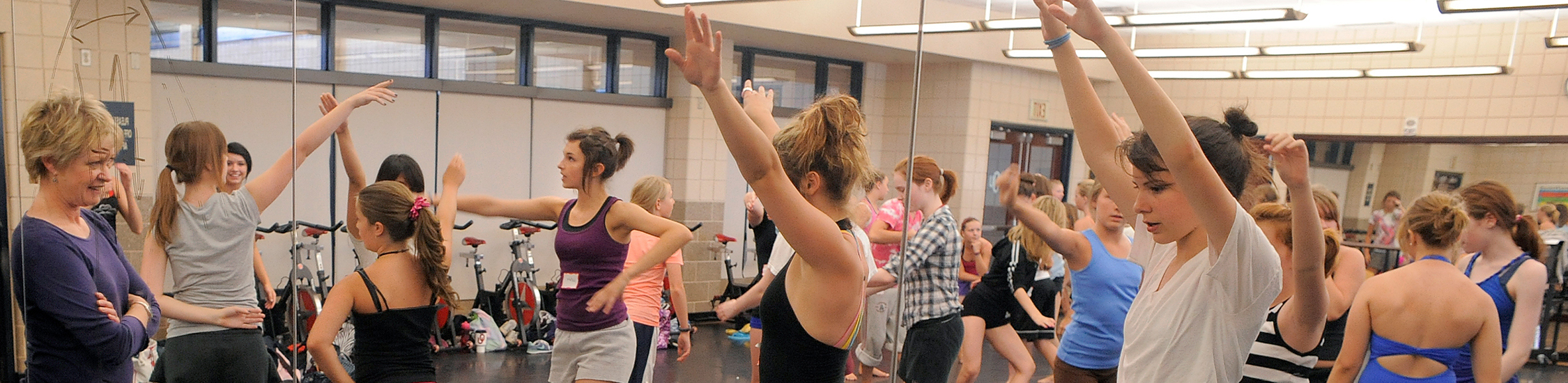 dance students practicing in the studio