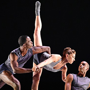 photo of the Ailey II dancers performing on stage