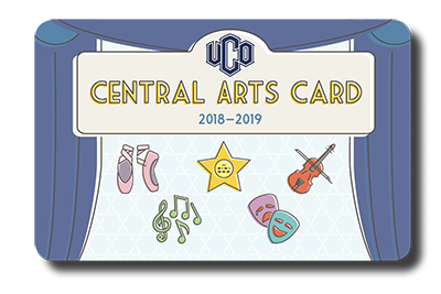 photo of the front of the Central Arts Card