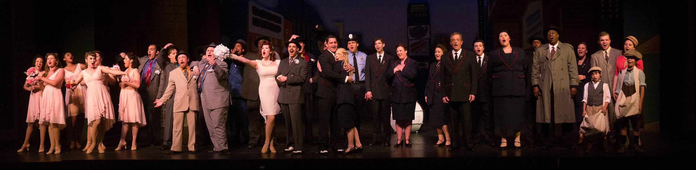 photo of the Guys and Dolls cast