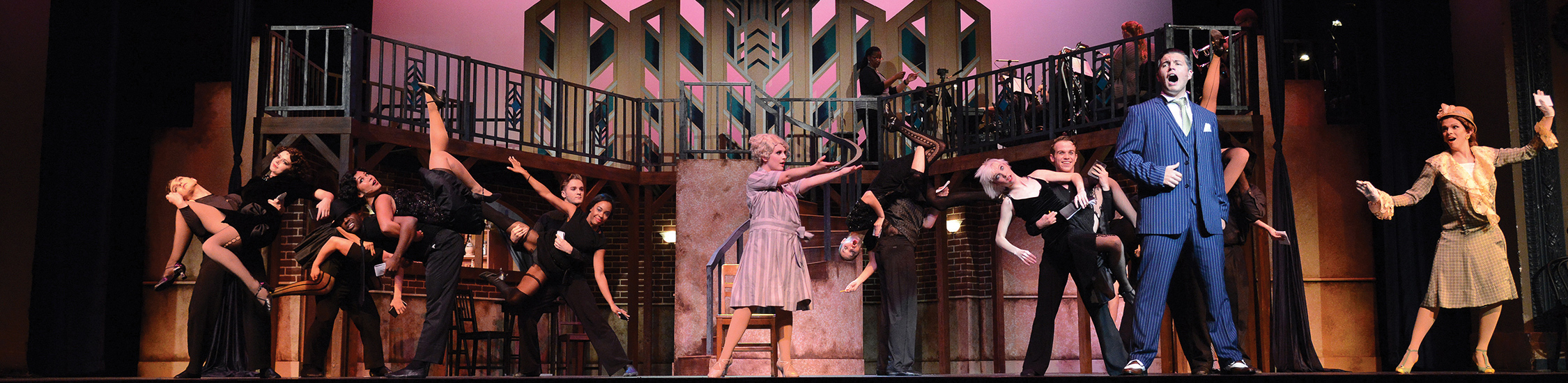 """students performing """"Chicago"""""""