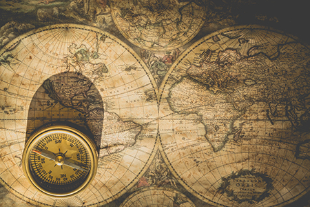 map and compass decorative image