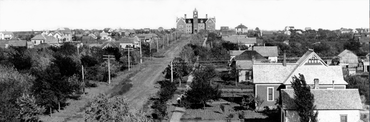 Black and White Photo of Old North