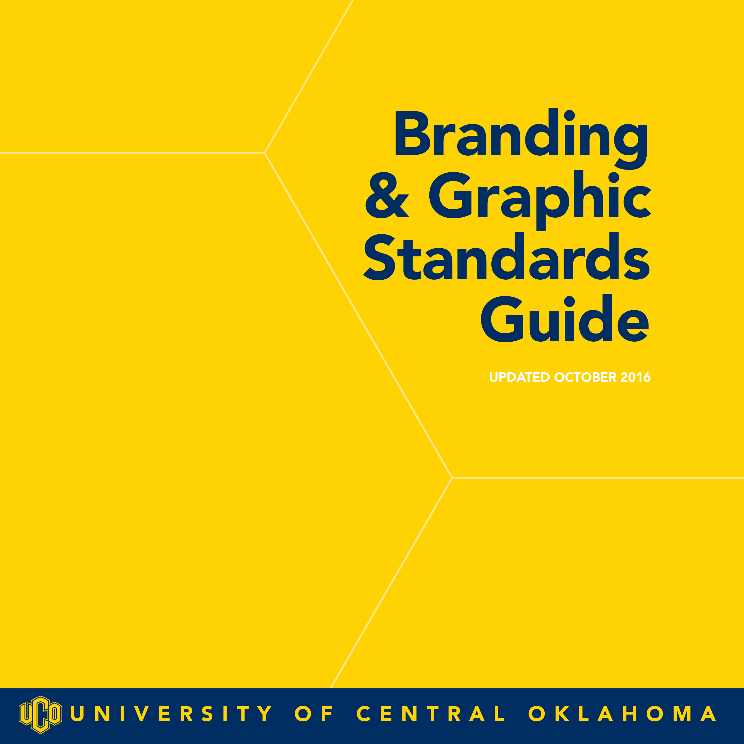Cover of the UCO Branding and Graphic Standards Guide
