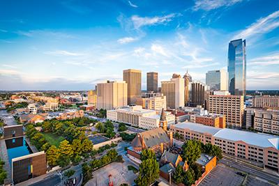Oklahoma City Downtown Cityscape