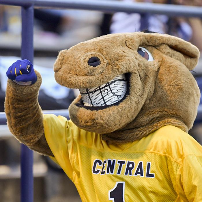 photo of UCO mascot Buddy Broncho
