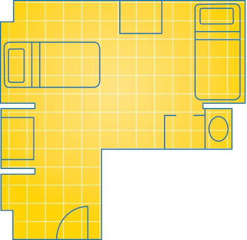 Quad L-Room