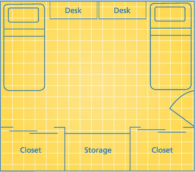 West Hall Standard Floorplan