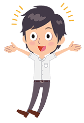 excited student cartoon icon
